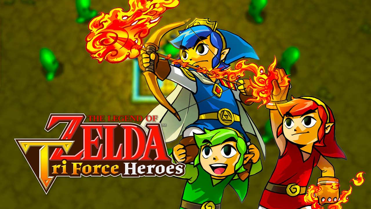 The Legend of Zelda: Tri Force Heroes artwork