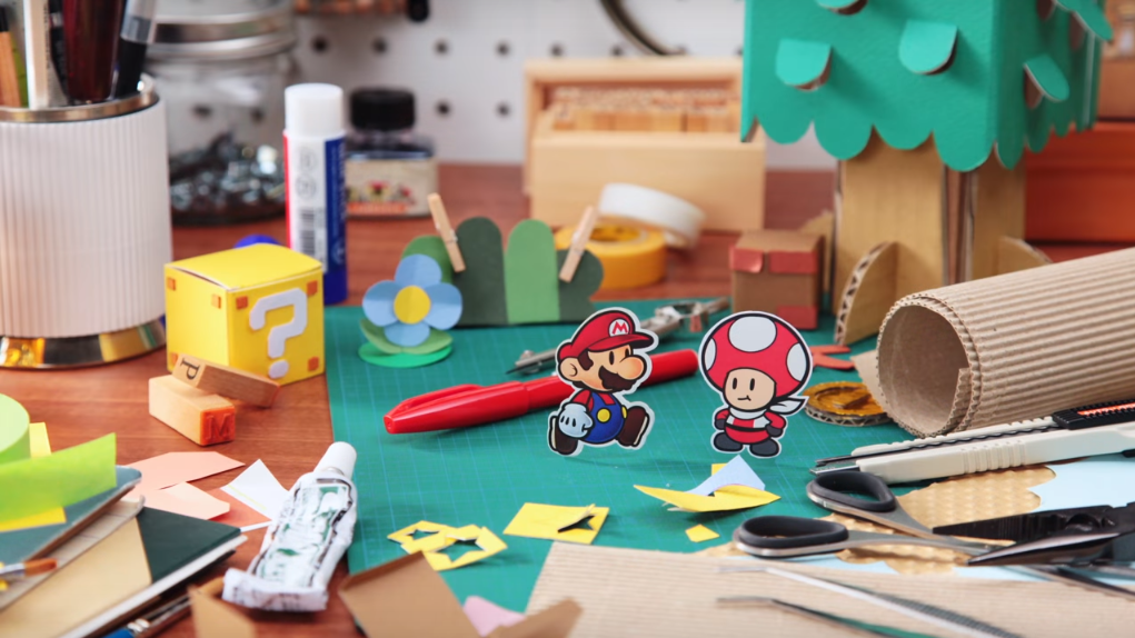 Paper Mario: Color Splash in stop motion