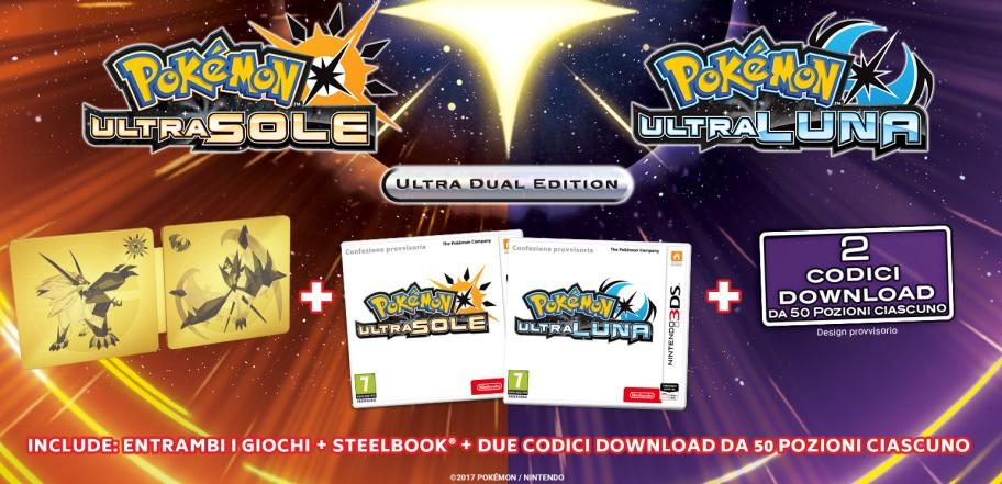 In arrivo delle edizioni limitate con SteelBook di Pokémon UltraSole e UltraLuna per noi europei