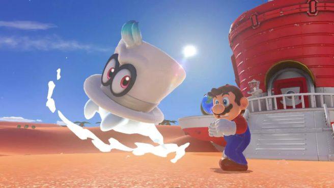Super Mario Odyssey Cappy e Mario