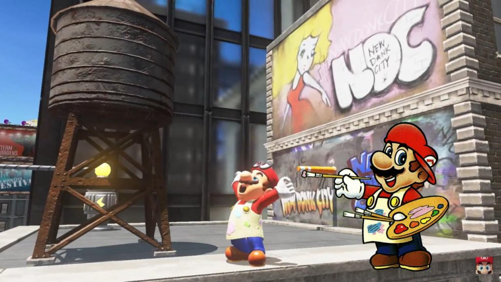 Mario Odyssey Paint