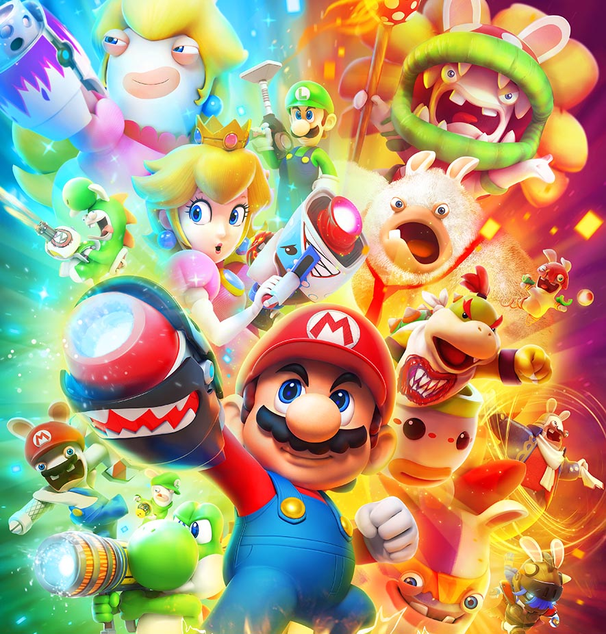 Mario + Rabbids: Kingdom Battle cover recensione