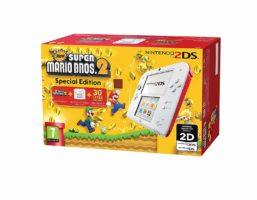 Nintendo 2DS Console e New Super Mario Bros 2 Cover