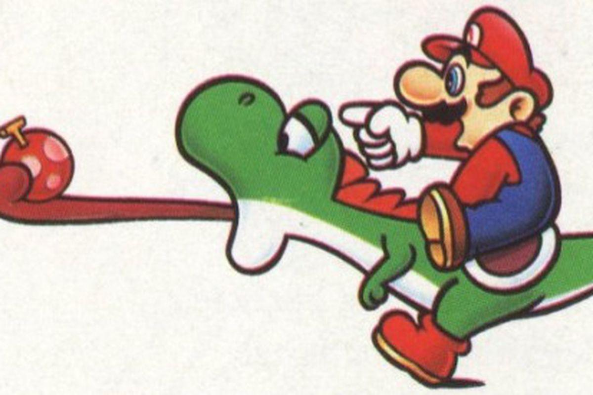 Yoshi e Mario