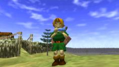 Link suona l'ocarina