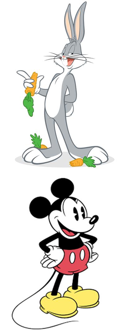 Bugs Bunny e Topolino