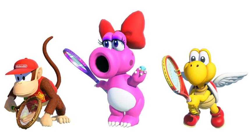 Diddy Strutzi e Paratroopa in Mario Tennis Aces