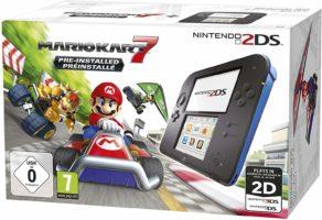 Nintendo 2DS - Konsole (schwarz) inkl. Mario Kart 7 (vorinstalliert) - [Edizione: Germania]