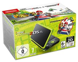 Scatola di  New Nintendo 2DS XL Nero e Lime + Mario Kart 7