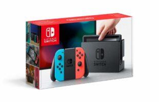 Scatola di  Nintendo Switch - Blu/Rosso Neon [ed. 2017]
