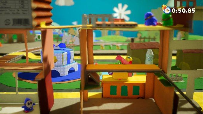 Yoshi's Crafted World livello rovescio