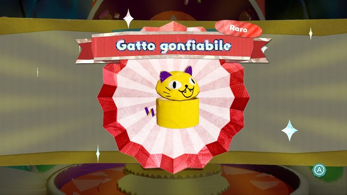 Yoshi's Crafted World Costume Gatto Gonfiabile