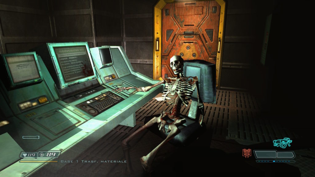 DOOM 3 screen