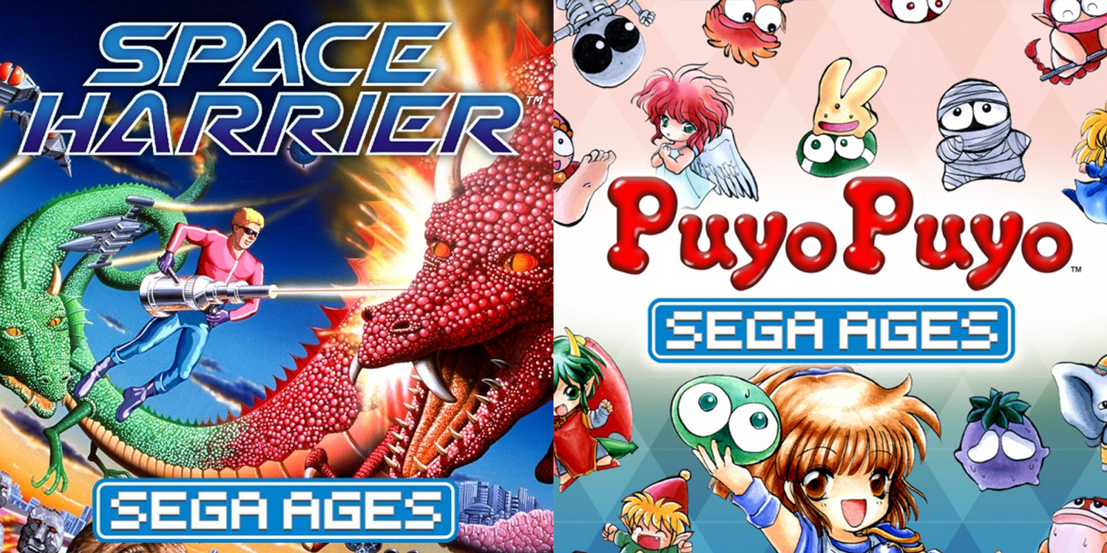 SEGA AGES Space Harrier e Puyo Puyo