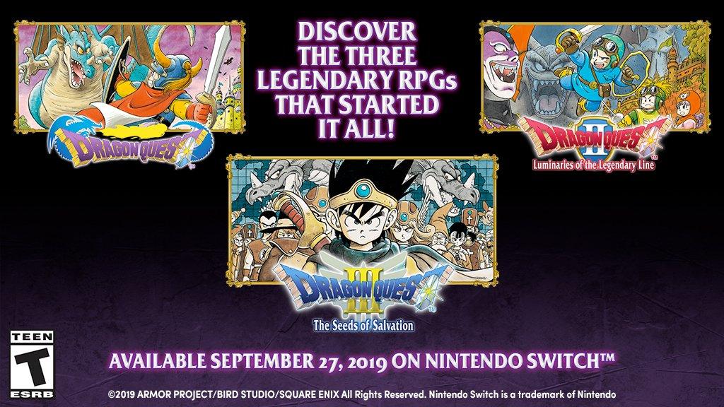 I primi tre Dragon Quest sono disponibili sul Nintendo eShop