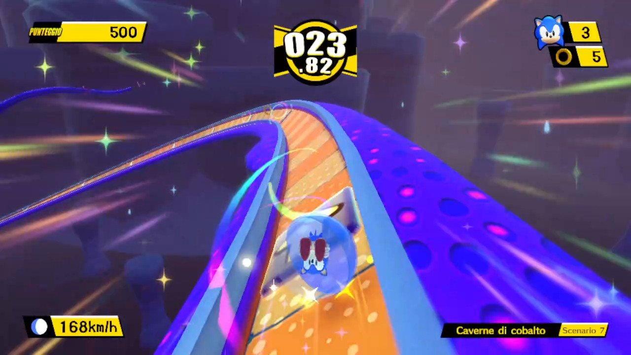 Sonic in un livello.