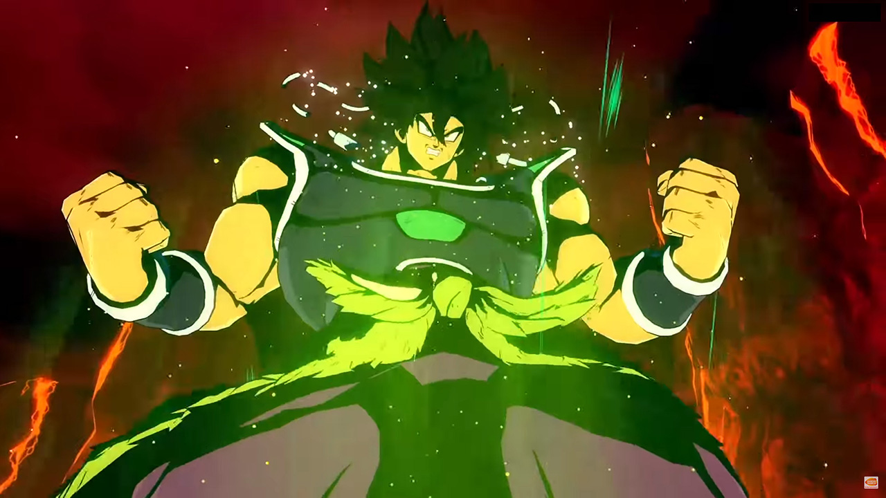 Broly (DBS) si mostra in Dragon Ball FighterZ