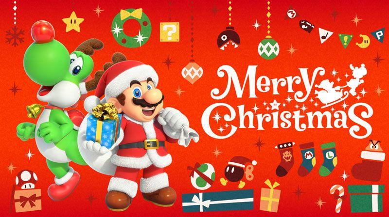 Mario e Yoshi si preparano alla consegna dei regali di Natale