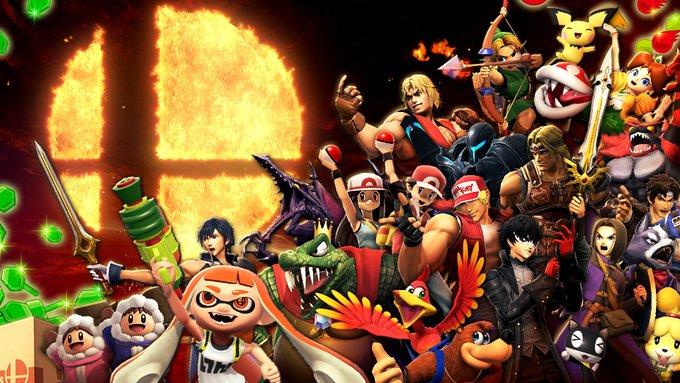 Super Smash Bros. Ultimate poster anniversario