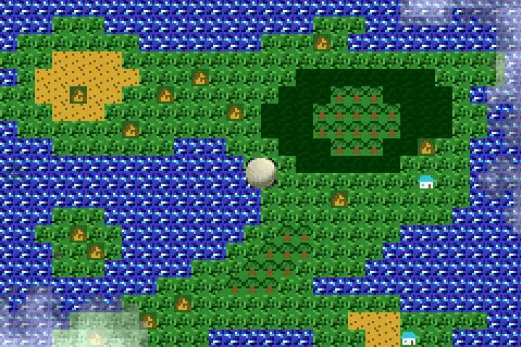 Schermata tech demo ispirata a Zelda II