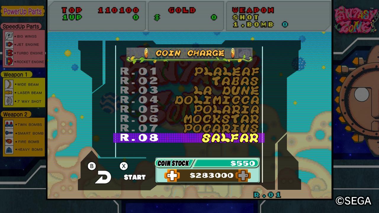 Schermata raffigurante il Coin Stock.
