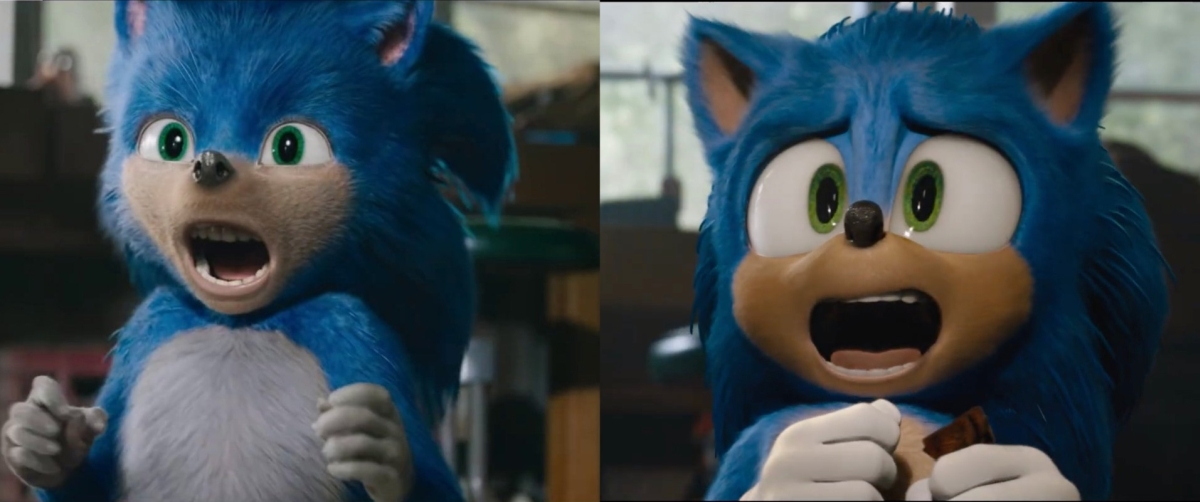 Comparazione vecchio e nuovo design di Sonic.