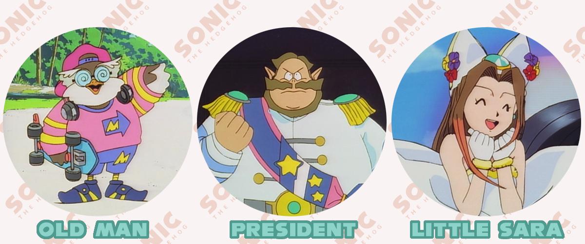 I personaggi nuovi dell'OAV.