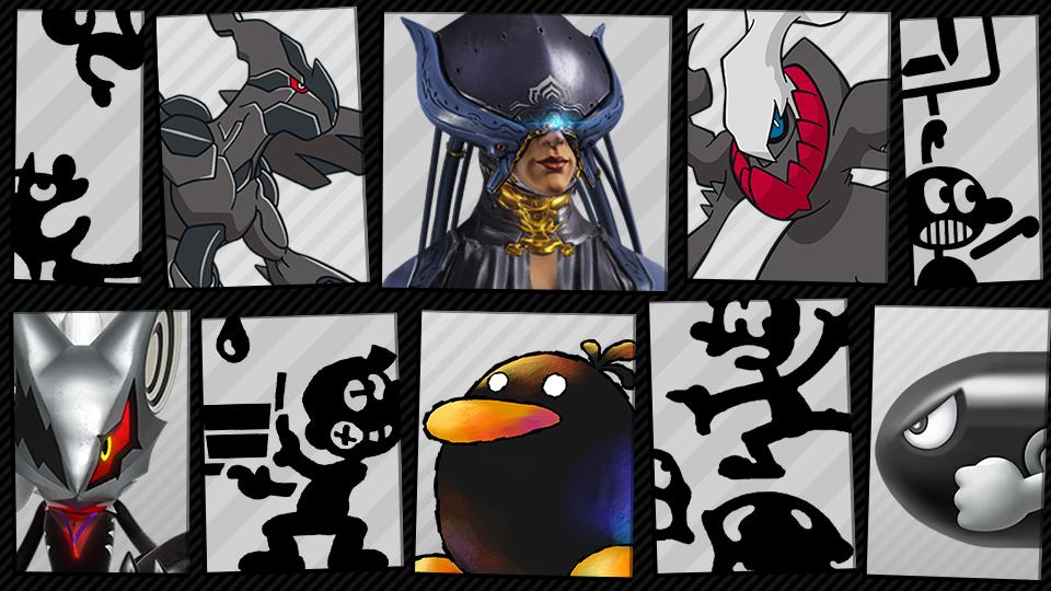 Super Smash Bros. Ultimate spiriti in nero