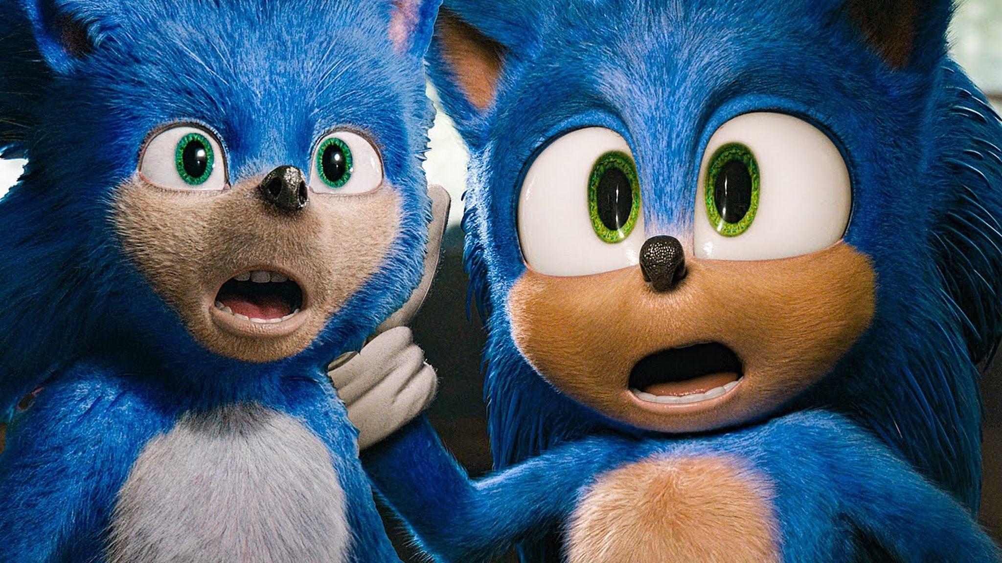 Comparazione dei due design di Sonic - Il Film