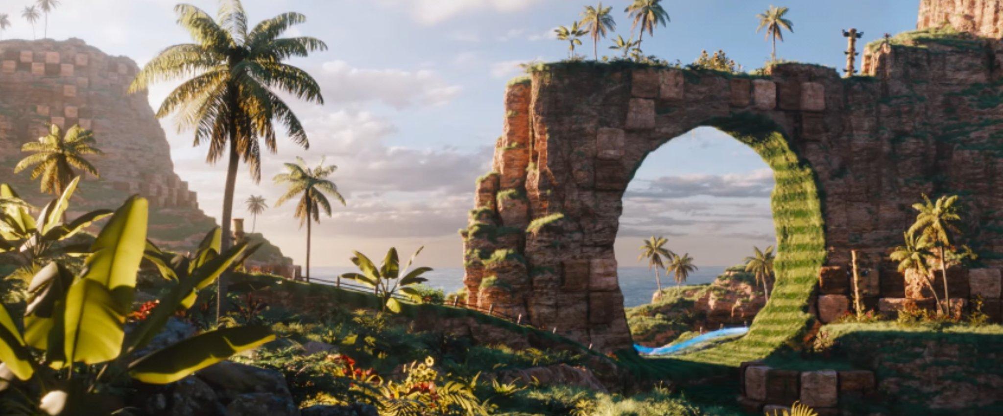 Uno scorcio di Green Hill Zone in Sonic - Il Film