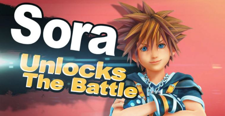 Locandina fanmade Sora Super Smash Bros. Ultimate