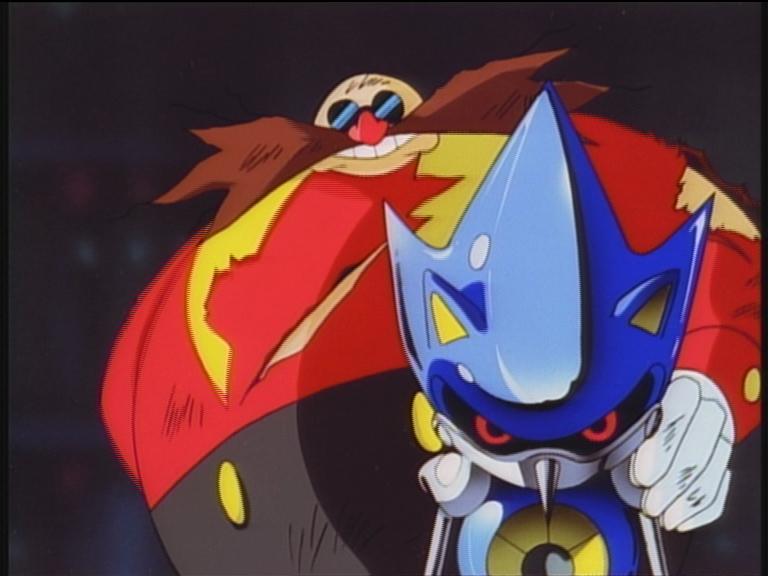 Eggman nel suo design Classico insieme a Metal Sonic.