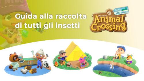 Copertina della guida agli insetti in Animal Crossing: New Horizons