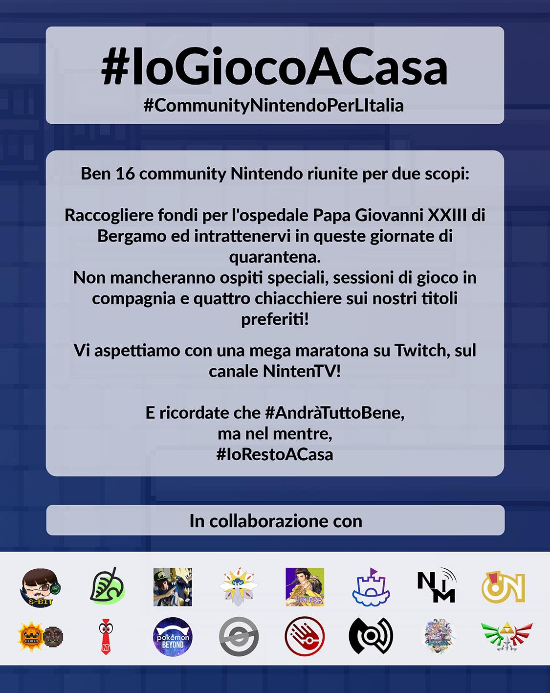 #CommunityNintendoPerLItalia locandina