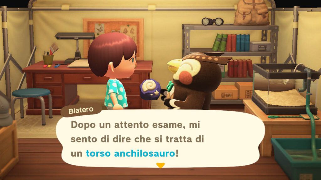 Alcuni dei fossili in Animal Crossing: New Horizons