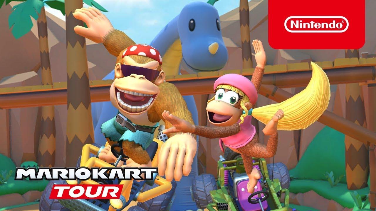 Mario Kart Tour Funky Kong e Dixie Kong