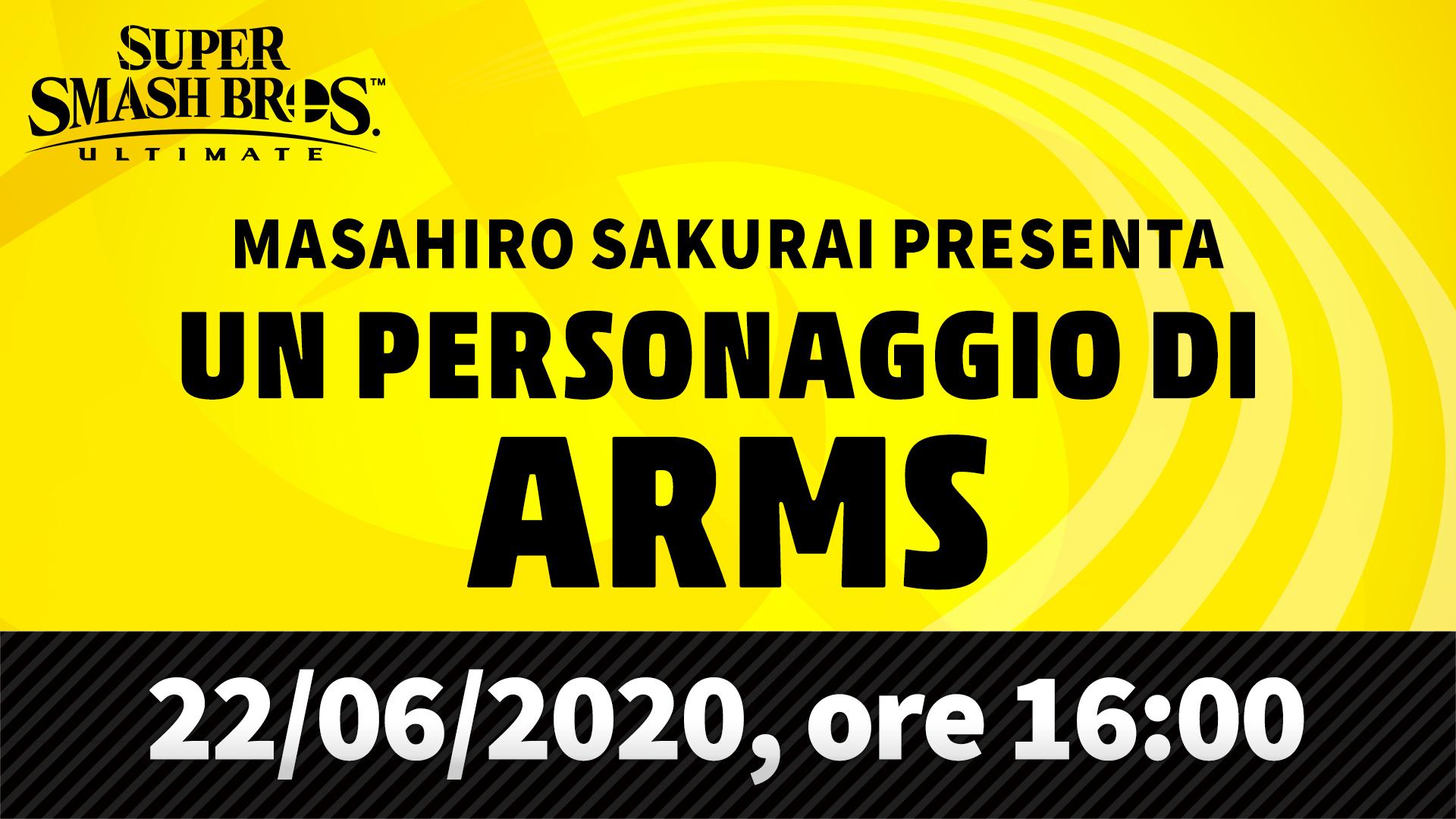 Super Smash Bros. Ultimate presentazione ARMS Cover