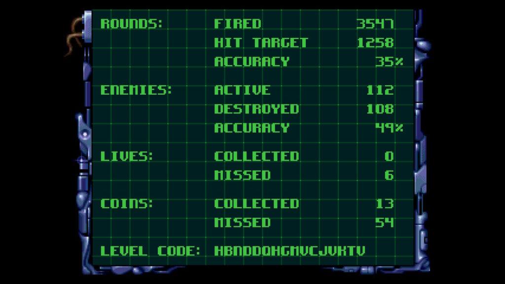 Ultracore End Level Screenshot