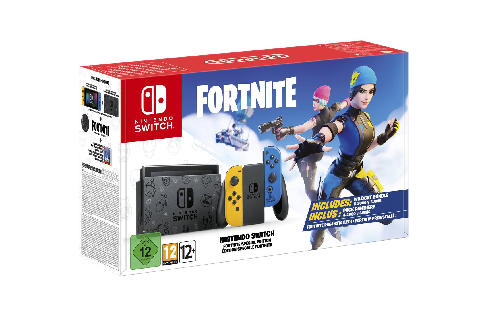 Nintendo Switch Edizione Speciale Fortnite scatola
