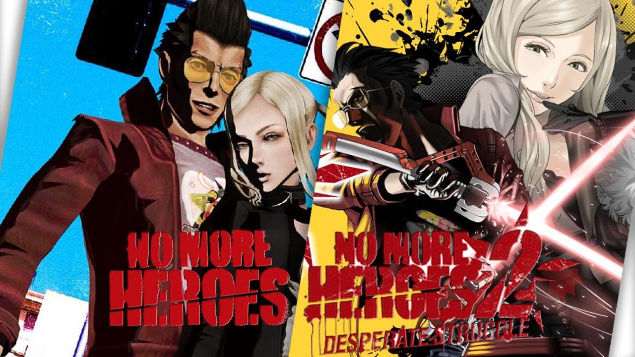 Copertine di No More Heroes e del suo sequel.