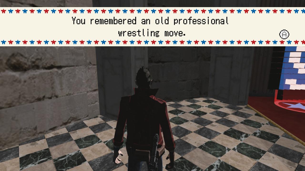 Travis Touchdown, il protagonista di No More Heroes, ricorda una vecchia mossa di wrestling.
