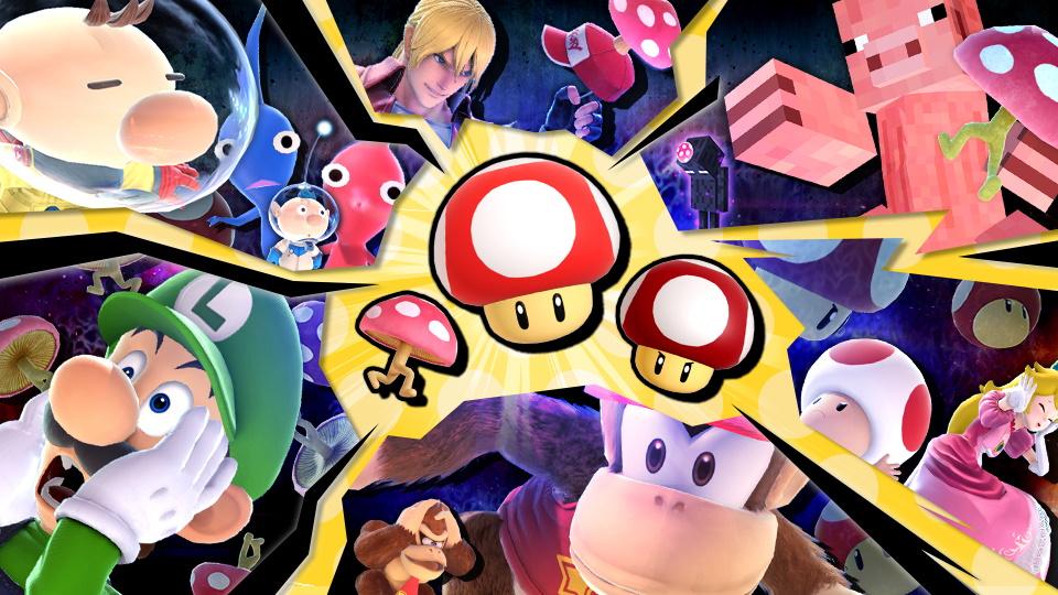 Super Smash Bros. Ultimate evento funghi
