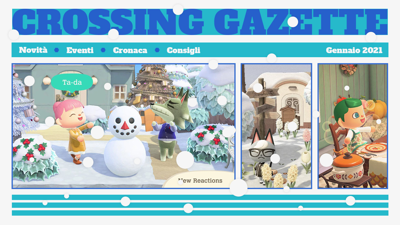 Animal Crossing: New Horizons Gazette gennaio 21