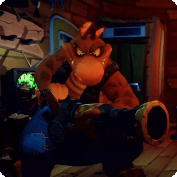 Dingodile in Crash 4