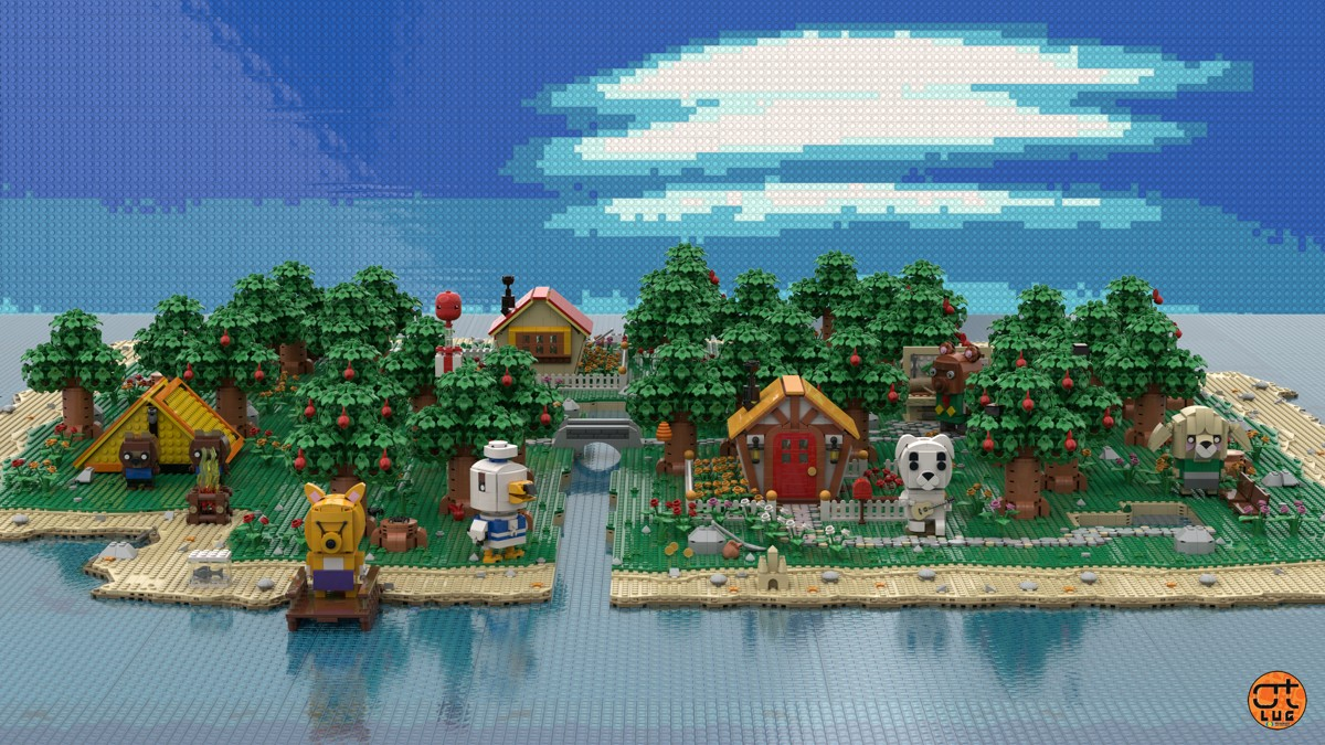 Animal Crossing New Horizons Lego Diorama OrangeTeam