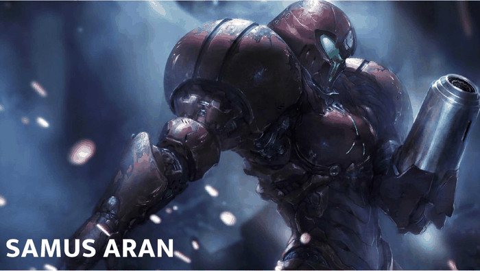 Samus Aran Epic Games Cover