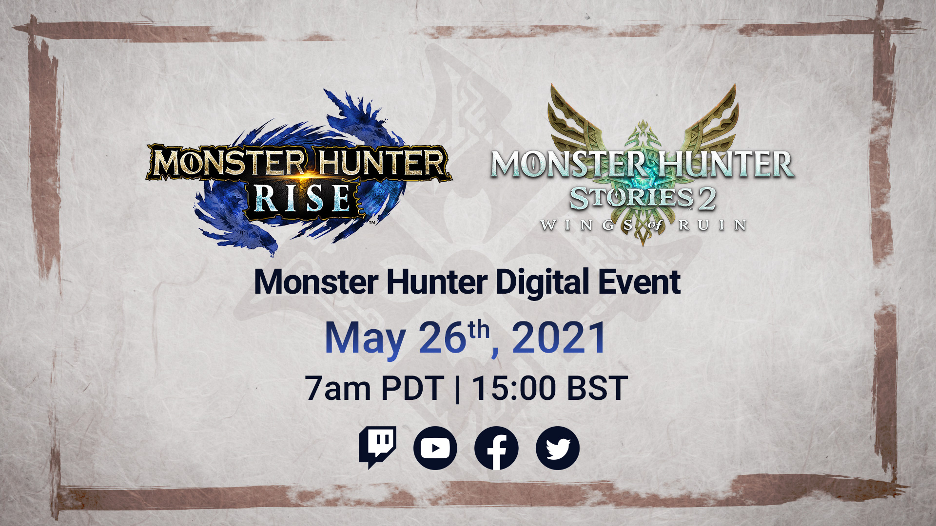 Monster Hunter Digital Event maggio Cover