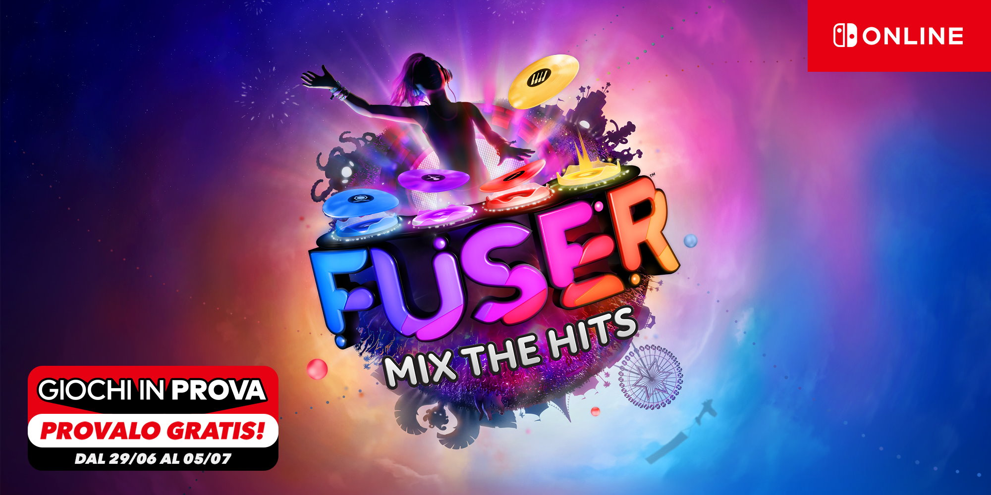 FUSER Mix the Hits Nintendo Switch Online