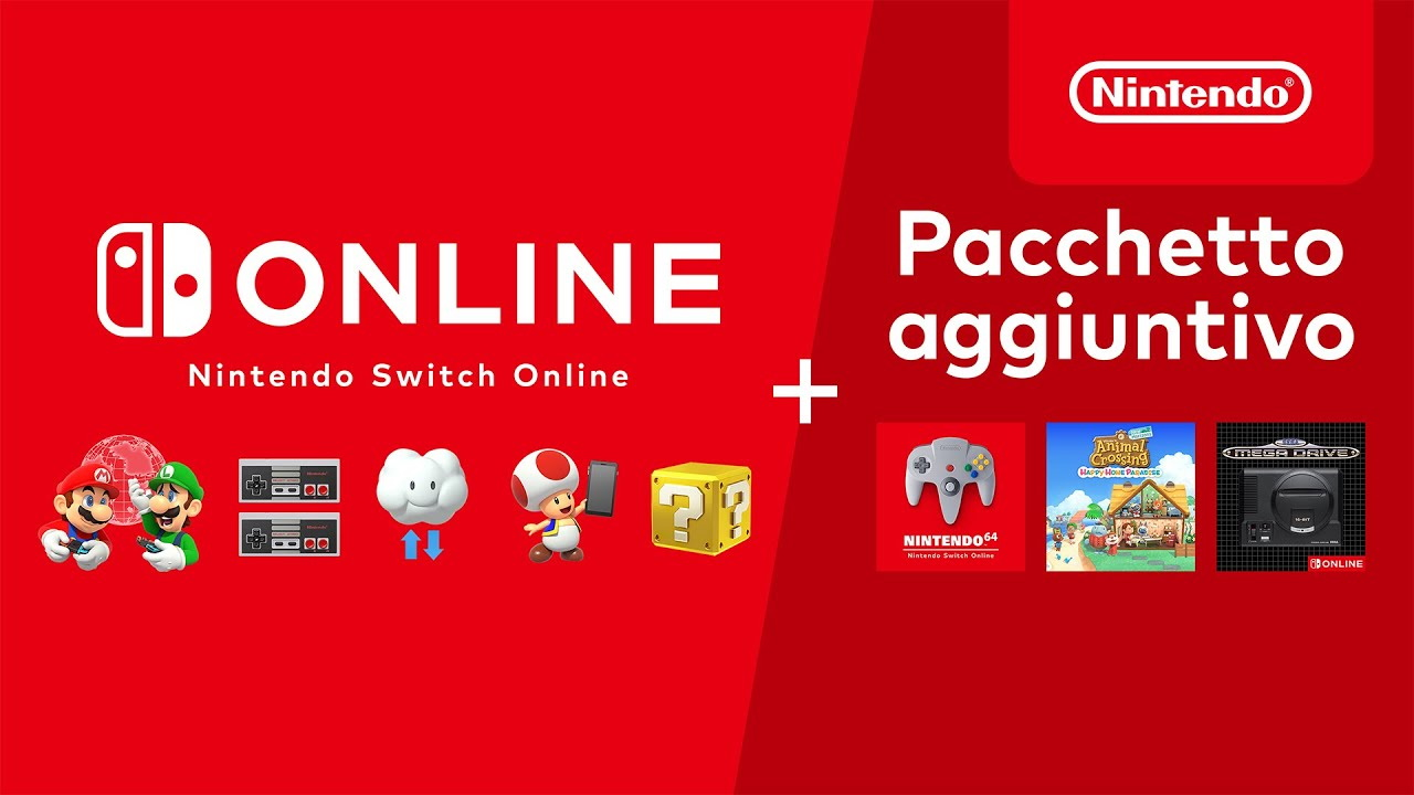 Nintendo Switch Online + Pacchetto aggiuntivo